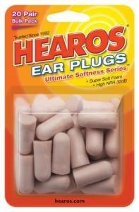 Hearos Ultimate morbidezza riutilizzabili in schiuma, 20 paia di tappi per le orecchie