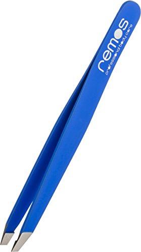 Remos - Pince à épiler - mors biais - bleue foncée