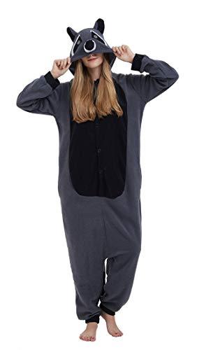 (SAMGU Einhorn Adult Pyjama Cosplay Tier Onesie Body Nachtwäsche Kleid Overall Animal Sleepwear Erwachsene Grau M)
