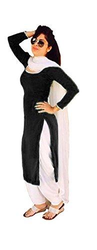 Mastani Kreation Women's Dress Material (BlackR1001_Black_Medium)