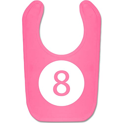 Shirtracer Karneval und Fasching Baby - Super 8 Karneval Kostüm - Unisize - Pink - BZ12 - Baby Lätzchen Baumwolle