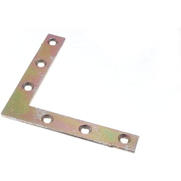 """4x 100mm 4/"""" Corner Braces L Shaped Right Angle Support Fixing Repair Brackets"""