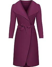 WearAll - Lange Gürtel Taschen öffnen Coat Damen Promi Wasserfall Jacke  Cape - 2 Farben - b9e7fb048b