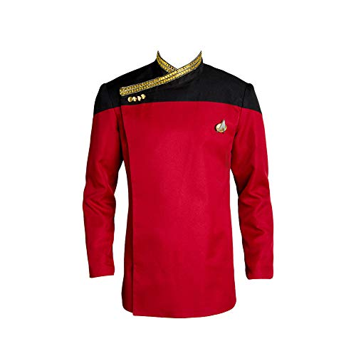 MingoTor TNG Star Trek: The Next Generation Outfit Cosplay Kostüm Rot Herren - Star Trek Next Generation Kostüm Rot