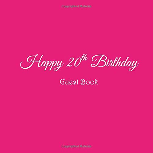 Happy 20th Birthday Guest Book 20 Year Old Party Gifts Accessories Decor Ideas Supplies Decorations For Girls Women Her