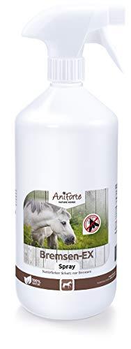 AniForte Bremsen-EX Spray für Pferde 1L - Bremsenspray natürliche & langanhaltende Wirkung gegen Bremsen, Sofortiger Schutz vor Mücken, Fliegen, Parasiten, Bremsen-Blocker in praktischer Sprühflasche - Teile Tot Drei