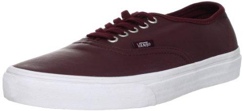 Vans U Authentic (Aged Leather), basket mixte adulte Noir - Schwarz ((Aged Leather) port royale)