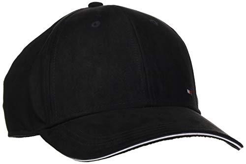 Tommy Hilfiger Herren Elevated Corporate Baseball Cap, Schwarz (Black 002), One Size (Herstellergröße:OS)
