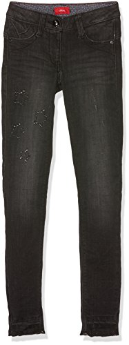 s.Oliver Mädchen Jeans 66.711.71.3026, Grau (Grey/Black Denim Stretch 99Z2), 164