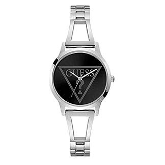 Guess Reloj Analógico para Mujer de Cuarzo con Correa en Acero Inoxidable W1145L2
