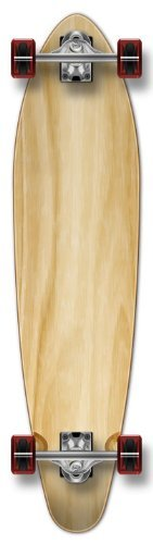 Longboard completo Yocaher Kicktail 2133,6 cm S/forma patineta W 71 mm ruedas Varios colores natural