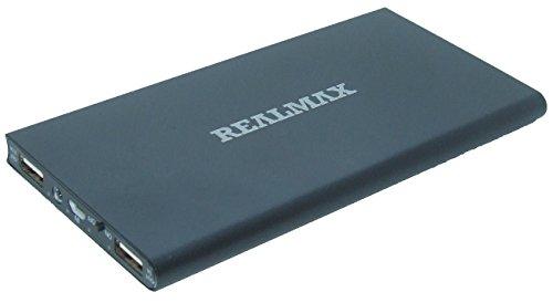 Realmax® - Batterie portable externe USB de secours - 10000mAh - 20000mAh - Technologie iDetect - Pour téléphones portables iPhone, iPad, iPod, Samsung Galaxy, HTC, Sony Experia, LG, Nokia, Google, Nexus, BlackBerry - Pour GPS, appareil photo, MP3,MP4,tablette