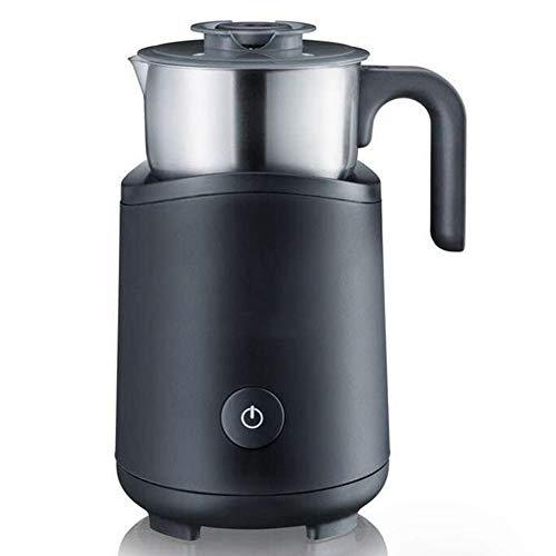 GGKLY Elektrischer Milchaufschäumer Automatischer Edelstahl, Für Kalte Und Warme Aufschäumen, Schnellschaum, Strix-Steuerung, Schwarz