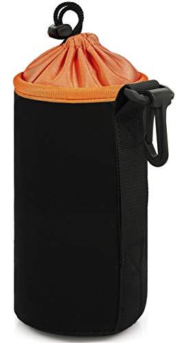 MyGadget Objektivtasche Neopren [L] mit Fleece Fütterung - Objektivbeutel Schutztasche wasserabweisend für Kamera Objektive z.B. Canon, Sony - Schwarz