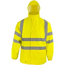 Bekleidung & Schutzausrüstung Warnschutzregenjacke leuchtgelb Gr XXL Airsoft