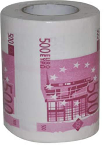 COOLMP - Lote de 6 Papel higiénico humorístico billet500 Euros - Talla única - Decoración y Accesorios de Fiesta, animación, cumpleaños, Boda, Evento, Juguete, Globo