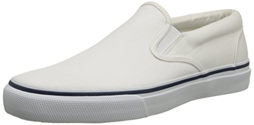 Sperry Top-Sider Men's Striper Slip-On Boat Shoe,White,10.5 M US