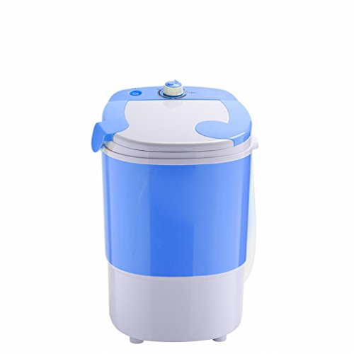 GCCI Mini - Waschmaschine Kleine Baby Halbautomatische Einzelne Fass Fass Trocknung Dehydratation Maschine,Blau