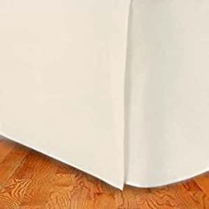 300TC Egyptian Cotton KING (US Queen) Bed Skirt Solid Ivory By Marrikas