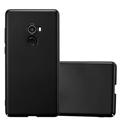 Cadorabo Hülle für Xiaomi Mi Mix 2 - Hülle in Metall SCHWARZ – Hardcase Handyhülle im Matt Metal Design - Schutzhülle Bumper Back Case Cover