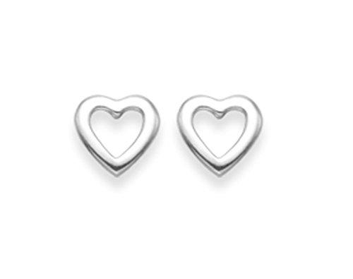 Heather Needham Silver, 5030 - Orecchini a perno, sagoma di cuore, 5 mm In confezione regalo