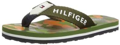 Tommy Hilfiger Boys Flipper 4A Thong Sandals FB56817143326 Green 9 UK Child, 27 EU