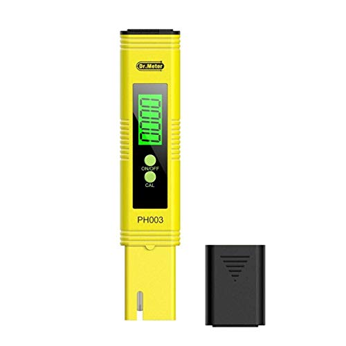 Dr.meter Medidor de pH, Tester ph Numérico + Bolígrafo Digital de Bolsillo con retroiluminación y ATC 0-14 Medidor de Ph - Cloro para Piscina/Acuario