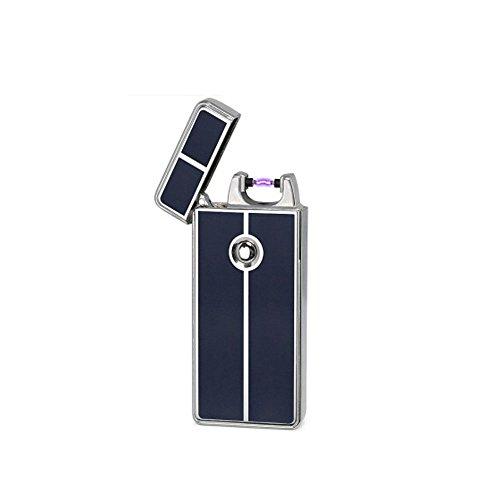 Glovion Classico Stile USB Accendino Arco elettrico ricaricabile Sigaretta Accendino (Silver)