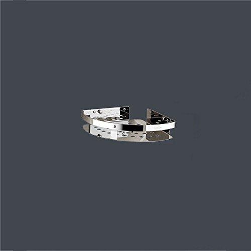 Shelfhx Estante de almacenamiento de carrito de ducha de esquina de acero inoxidable Estante de almacenamiento de pared de baño Estante de almacenamiento de pared de baño con gancho (tamaño : 1tier)