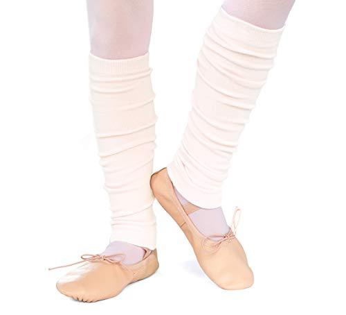 divata Kinder Ballett Stulpen, Mädchen - Ballettstulpen ohne Fersenloch - Tanzstulpen Beinstulpen Armstulpen, Weiche Legwarmer, Beige, 1-6 Jahre