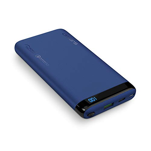 Omars Power Bank Carica Veloce 10000mAh Caricabatterie Portatile con Porta USB C da 18W PD, USB A Porta QC 3.0 Powerbank per iPhone X 8 7 Plus 6s 6 iPad Air Mini Samsung Galaxy S9 S8 S7 Smartphone