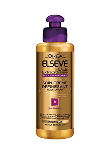 L'Oréal Paris Elseve Huile Extraordinaire Soin-Crème Définissant Cheveux Bouclés 200 ml - lot de 2
