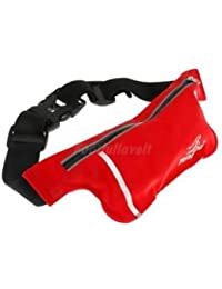 Alcoa Prime Unisex Ultrathin Outdoor Running Waist Bag Sports Pockets Bag -Red