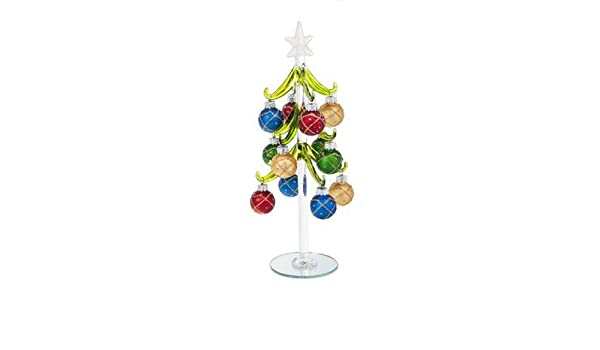 Ganz Miniature 10 Blown Glass Christmas Trees With Ornaments