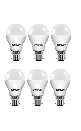 Eveready Base B22 7-Watt LED Bulb (Pack of 6, Cool Day Light)