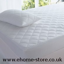 Quilted Mattress Protector - low-cost UK bedding store.