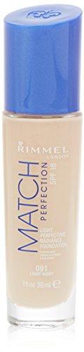 Rimmel Match Perfection Foundation 30ml Light Ivory 091 (Smart Match Foundation)