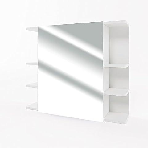 Spiegelschrank FYNN 80 cm Weiß - Spiegel Hängespiegel Badspiegel