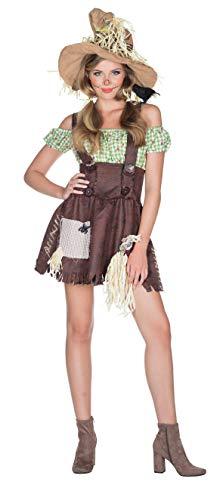 Rubie's Vogelscheuche Kostüm Kleid Größe 38 Damen Karneval Bauernhof Halloween Scarecrow Bäuerin