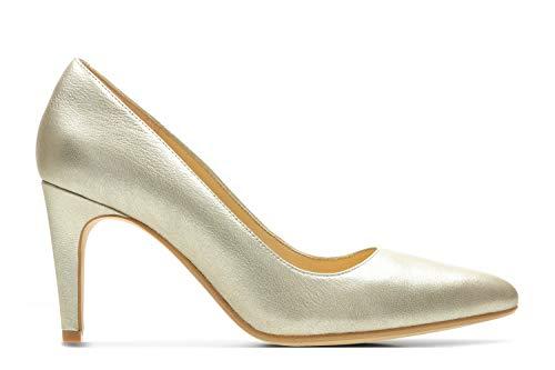 Clarks Laina Rae Womens Court Shoes 3 D (m) UK/35.5 EU Champagner -