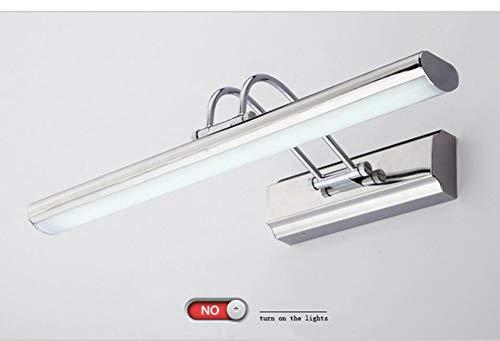 Glühlampen-schiene Leuchte (HRFHLHY Edelstahl-Spiegel-Scheinwerfer Bad Bad LED-Leuchten Wasserdichte Nebeldekorationslampen mit Schalter)