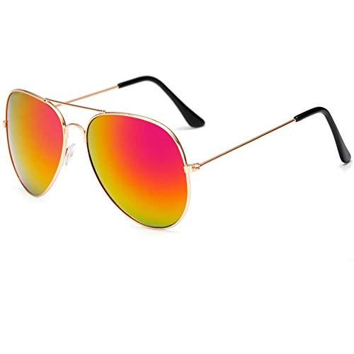 AHIMITSU Brillen für Erwachsene Aviator Polarized Sonnenbrille UV 400 Schutz Metallrahmen Unisex (Farbe : Purple)
