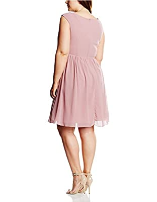 Little Mistress Curvy Women's Embroidered Prom Sleeveless Dress