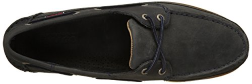 Herren Navy Schooner Sebago Leather Bootsschuhe Blau dwnUqRxU