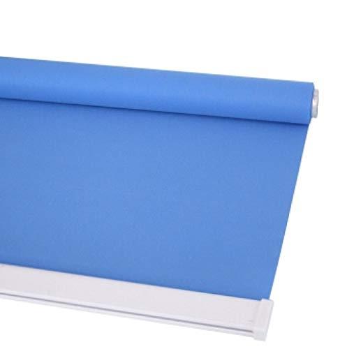 dusg Estores Collection Estor Enrollable Liso Persianas Punch Pull sección de Perlas Medio Tono Azul Claro 120 × 240CM