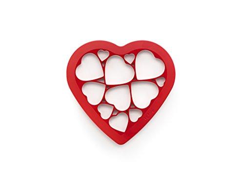 Lekue Keksausstecher Puzzle Herzen, Kunststoff, Bunt, 24x26x8 cm