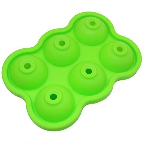 Bodbii 6-Loch Kugel EIS-Form-EIS-Hersteller Tabletts Neuheit -Lebensmittelklassensilikon Ice Ball Maker mit Deckel für Infundiertes Ice -