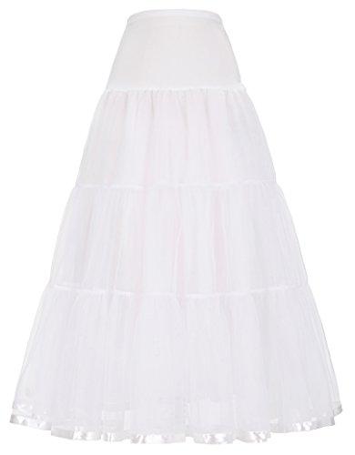 unterrock damen weiß reifrock a linie petticoat für rockabilly kleid M CL421-2
