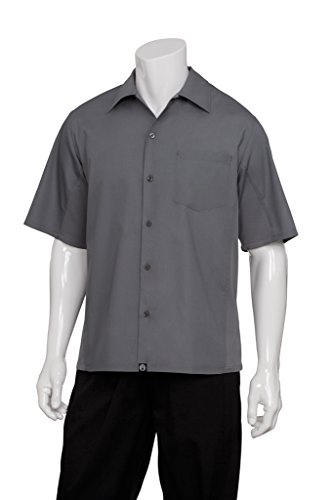 Colour by Chef Works B179-S Cool Vent Chefs Shirt, Small, Grey Test