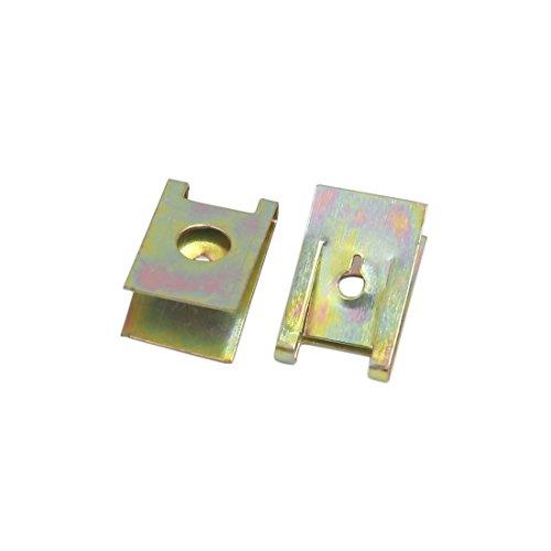 Preisvergleich Produktbild sourcingmap® 30 Stk Kupfer Metall Auto Tür Pannel Helm Schraube U-Type Klipp Niete